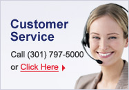 Customer Service - Call (301) 797-5000 or click here